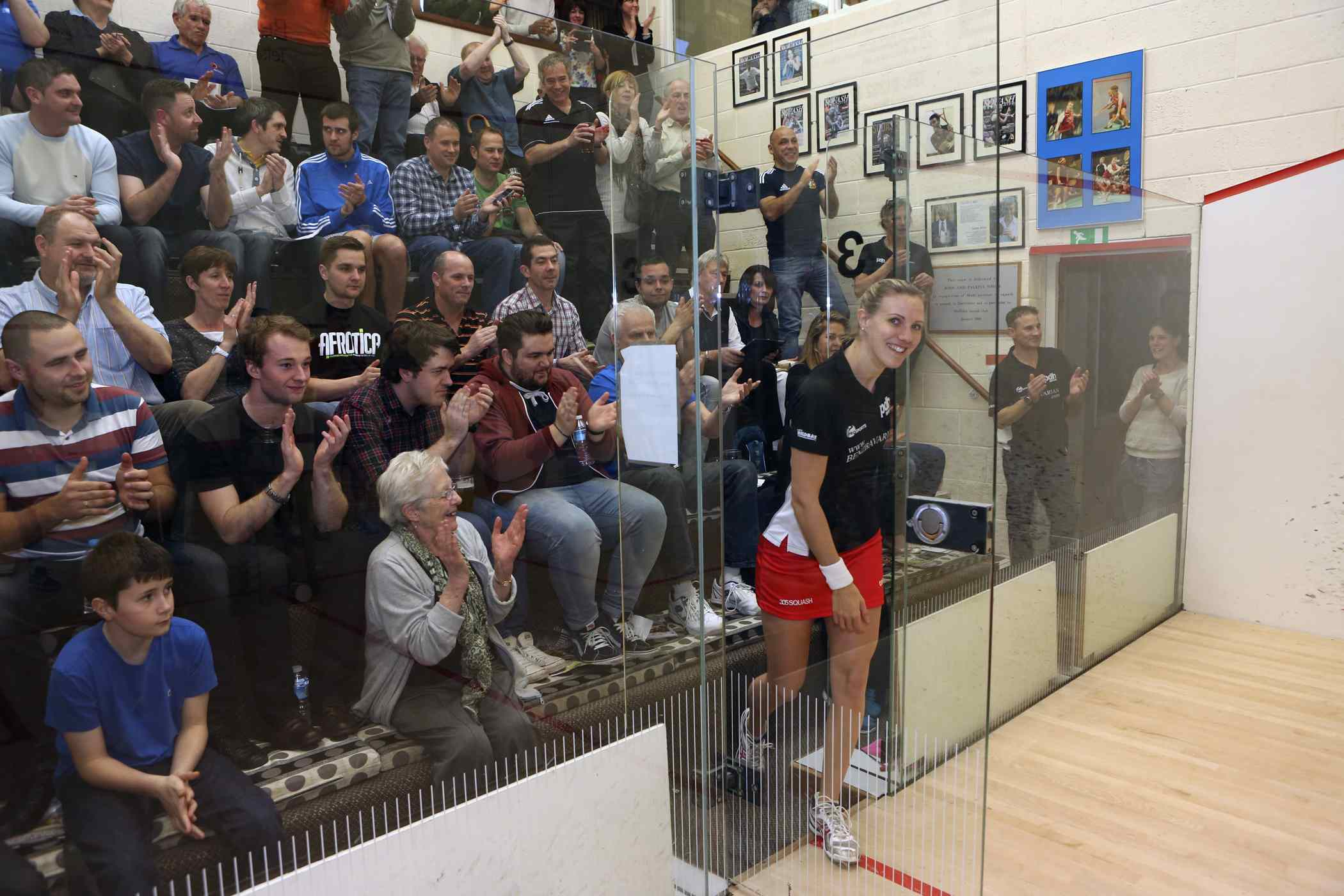 Laura shows off trophy at Duffield